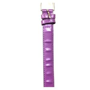 Purple leather Belt